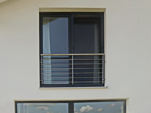 Franz. Balkon aus V2A Edelstahl