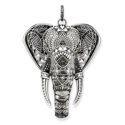The opulent THOMAS SABO elephant pendant gives positive energy in life.