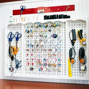 Love this!: Office, Organizations Ideas, Scrapbook Rooms, Rooms Ideas, Sewing Storage, Sewing Rooms, Sewing Crafts Rooms, Design Offices, Pegboard Ideas