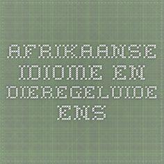 Afrikaanse idiome en dieregeluide ens