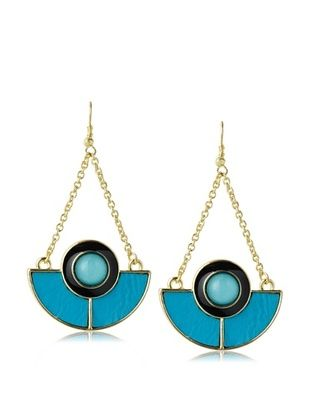 55% OFF Sparkling Sage Half Circle Detailed Drop Earrings