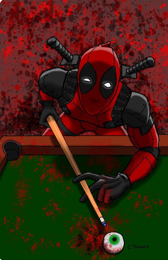 #Deadpool #Fan #Art. (Dead Shooting Pool) By: Cjonesart. (THE * 5 * STÅR * ÅWARD * OF: * AW YEAH, IT'S MAJOR ÅWESOMENESS!!!™) [THANK U 4 PINNING!!!<·><]<©>ÅÅÅ+(OB4E)