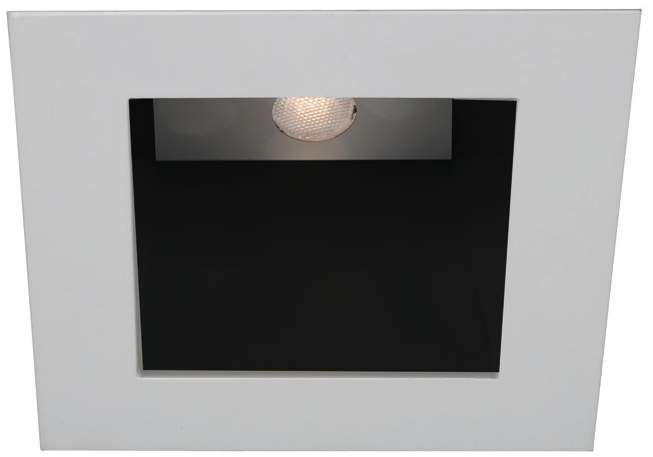 Wac White Black 4 Inch Led Square Recessed Light Trim