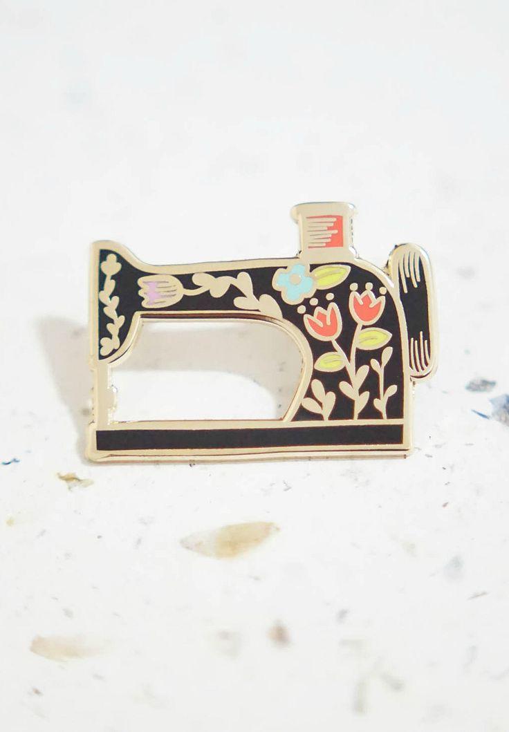 Sewing Machine Enamel Pin | justinegilbuena on Etsy