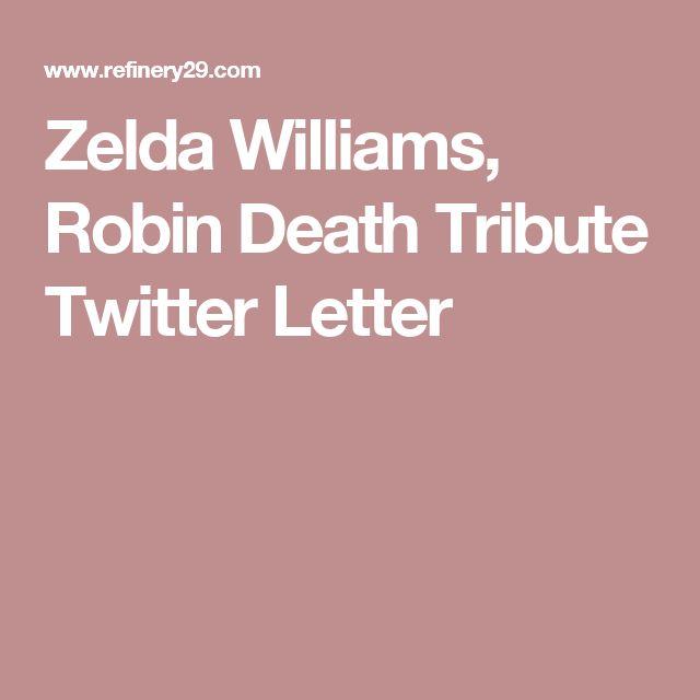 Zelda Williams, Robin Death Tribute Twitter Letter