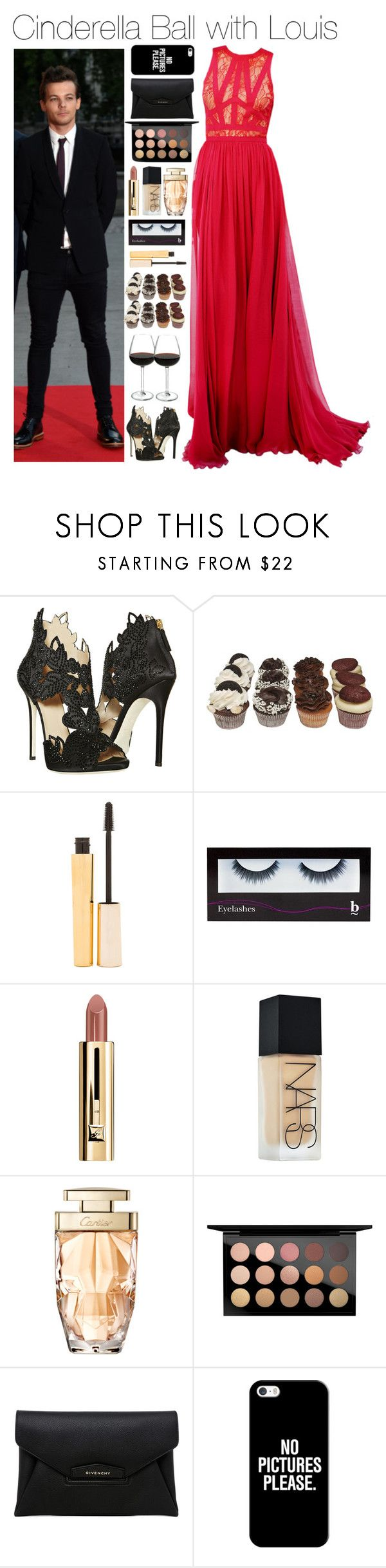 """""""Cinderella Ball with Louis"""" by xhoneymoonavenuex ❤ liked on Polyvore featuring La Perla, Avenue, Stila, BBrowBar, NARS Cosmetics, MAC Cosmetics, Givenchy and Casetify"""