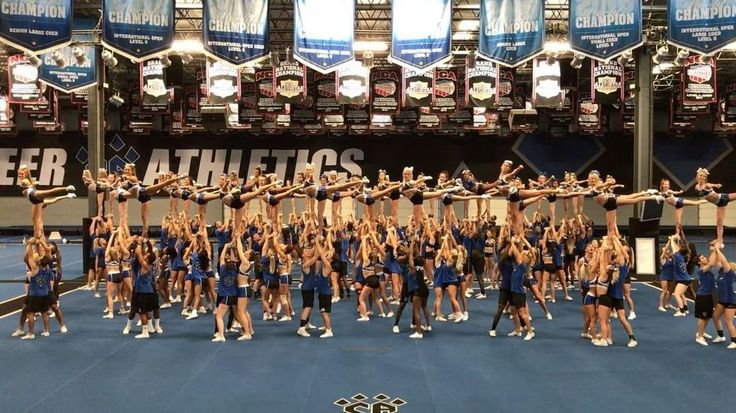 """13.3k Likes, 237 Comments - Cheer Athletics (@cheerathletics) on Instagram: """"This is what 60 level 5 stunts look like all at the same time! Level 5 CAmp has us shook! …"""""""