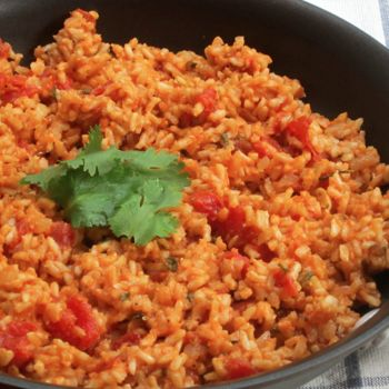 Skinny Mexican Rice  -  Yields: 4 | Serving size: 1 cup | Calories: 139 | Old Points: 1 | Points Plus: 4 | Total Fat: 3 gm | Saturated Fats: 1 gm | Trans Fats: 0 gm | Cholesterol: 0 mg | Sodium: 371 mg | Carbohydrates: 23 gm | Dietary fiber: 4 gm | Sugars: 4 gm | Protein: 7 gm