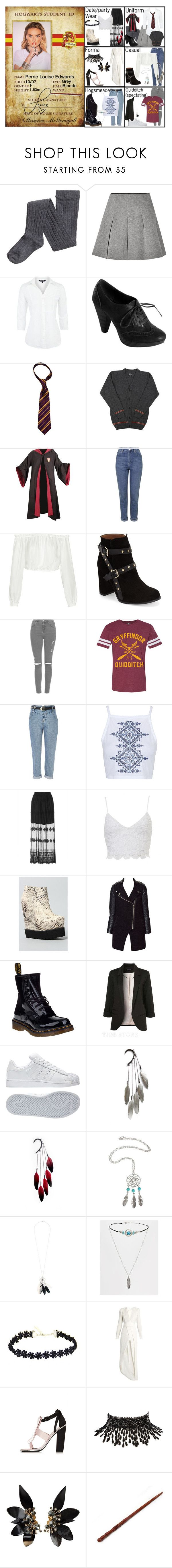 """""""Perrie Edwards in Gryffindor (HP)"""" by elmoakepoke ❤ liked on Polyvore featuring T By Alexander Wang, Maine New England, Topshop, Elizabeth and James, River Island, Zeno, Zara, Dr. Martens, adidas and Anni Jürgenson"""