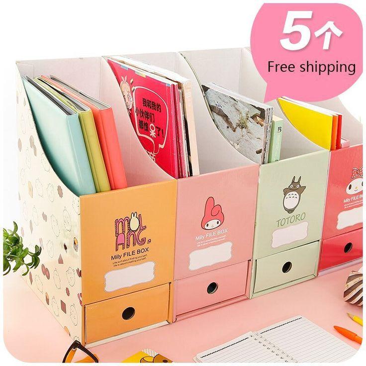 Goedkope mooie papier desktop opbergdoos korea creatieve kantoor bestand plank boekenkast bureau opbergdozen, koop Kwaliteit Opslag Dozen & Bins rechtstreeks van Leveranciers van China: