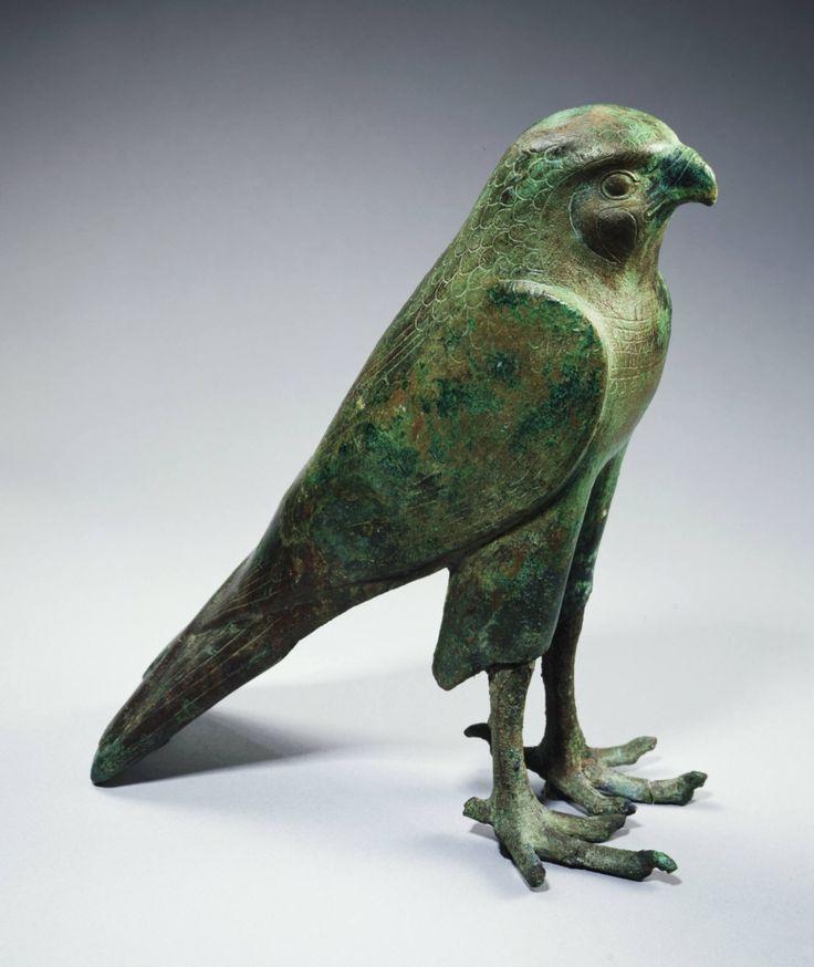 Falcon deity. Egyptian, Late Period to Ptolemaic Period, 664-30 B.C.