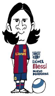 LIONEL MESSI(ARGENTINA)FC BARCELONA(バルセロナ)リオネル・メッシ似顔絵