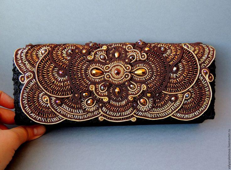 Купить Сумочка сутажная - клатч - украшения ручной работы, Украшение ручной работы, подарок девушке