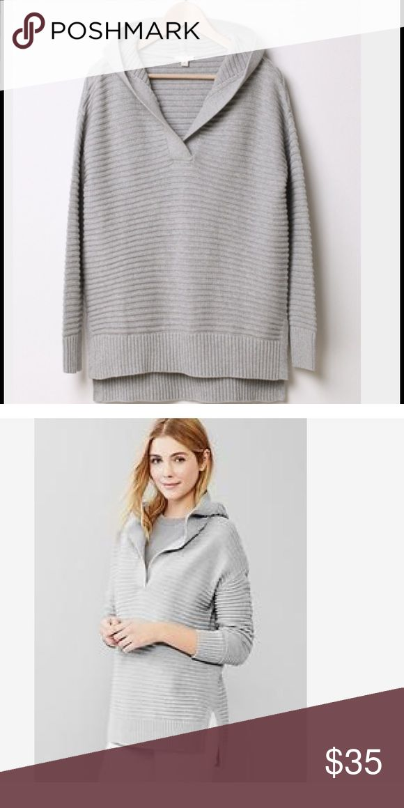 Gap Hooded Cotton Sweater Fall essential from Gap and NWT!  Cozy hooded cotton sweater in gray and a size medium. Gap Sweaters