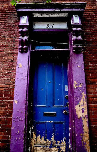 Purple Doorway / Blue Door, via Flickr.