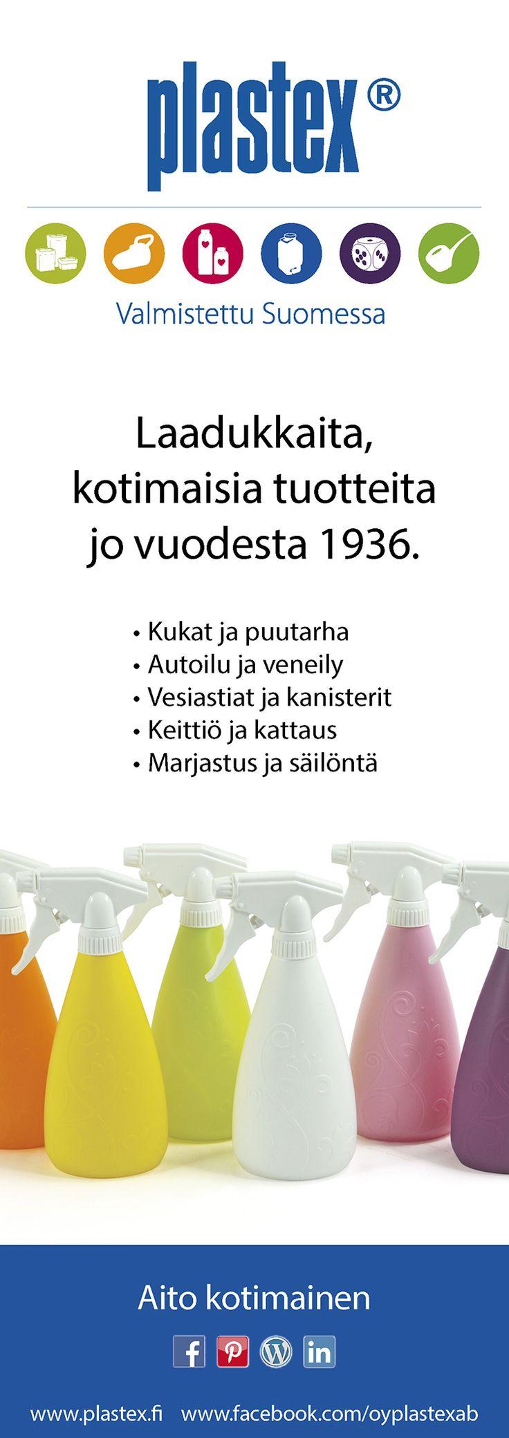 Plastex jo vuodesta 1936!