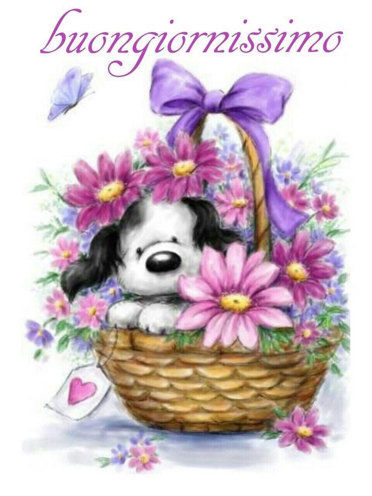 Cute Puppies Drawings Basket