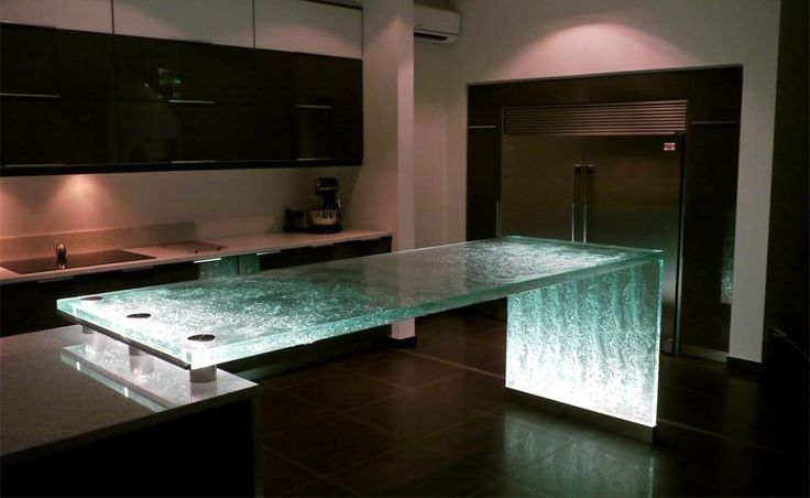 Pin 2: This glass balcony gives a special look to the place which has cold colors. Also it is use like a light source.
