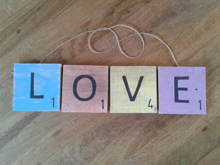 Scrabble bord LOVE