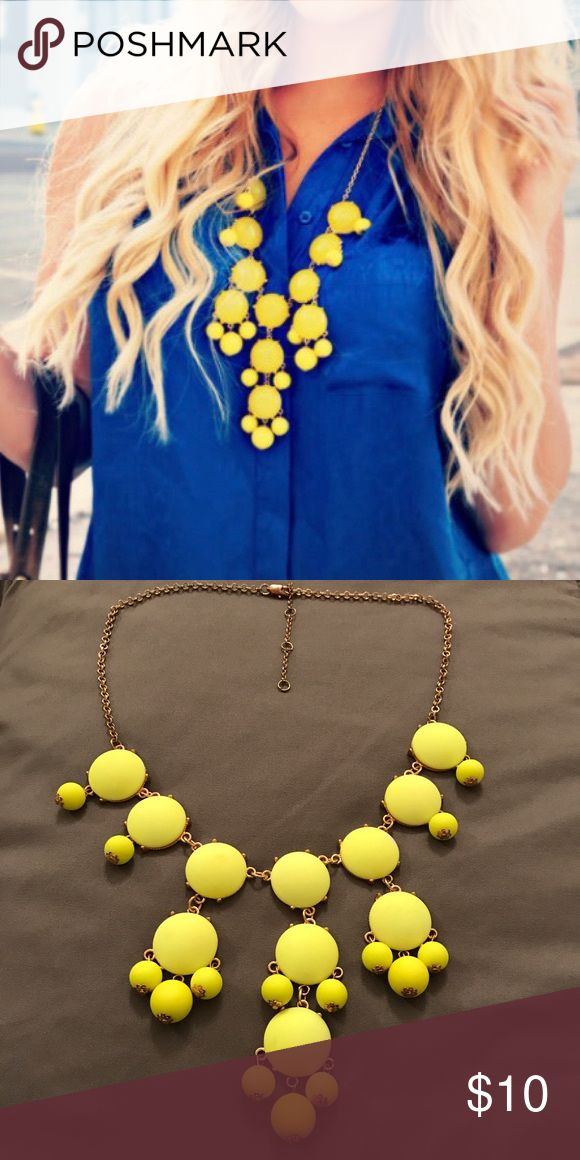 Yellow Bubble Necklace Cute, colorful, statement necklace Jewelry Necklaces