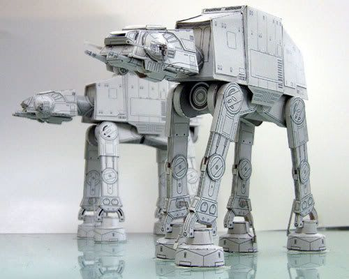 Papercraft Walkers of Star Wars from Internet by trivto on DeviantArt