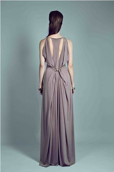 THE DRESS - long dress with gold rings