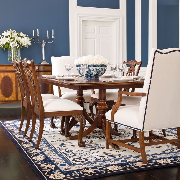 Abbott dining table ethan allen us dining room pinterest for Ethan allen dining room