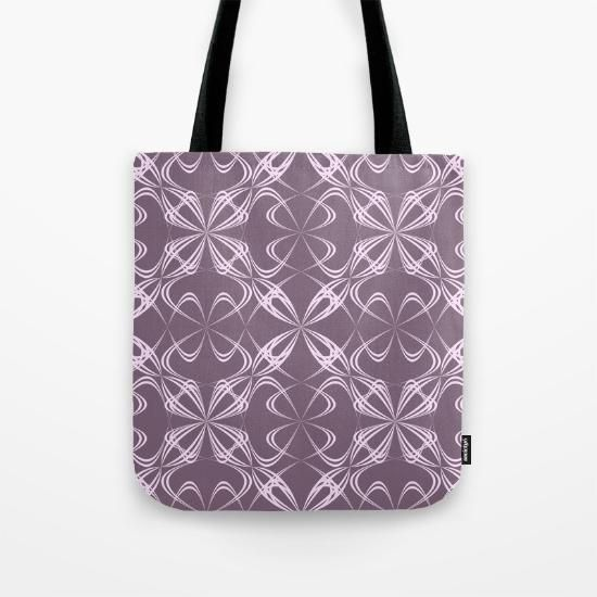 Tote Bag - Blue and yellow swirls by VIDA VIDA