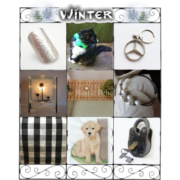 Winter the time to cuddle. by cozeequilts on Polyvore featuring Melannco and rustic