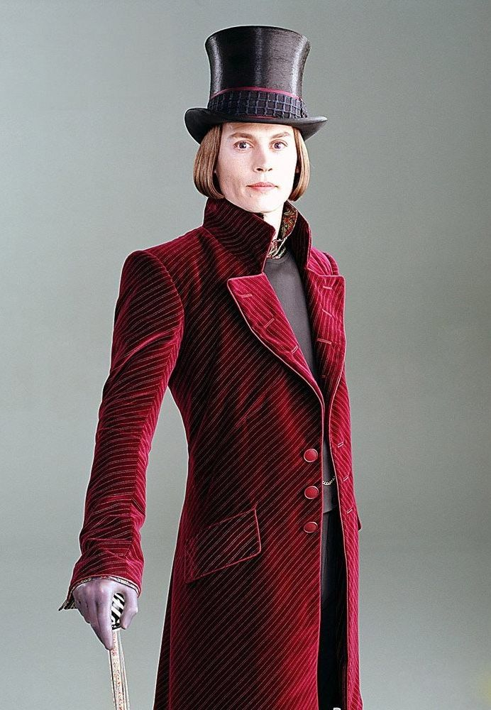 Johnny Depp as Willy Wonka in Charlie and the Chocolate Factory    Willy Wonka And The Chocolate Factory Johnny Depp Cast