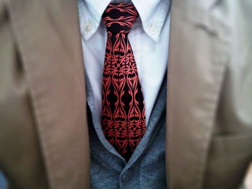 pattered tie: Men S Style, Fashion Style, Men S Fashion, Clothes, Black Red, Red Ties, Menswear, Fashion Manly