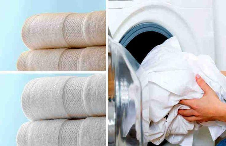 Con el paso del tiempo y los lavados, las toallas dejan de sentirse tan suaves como cuando eran nuevas. Esto se debe a que el jabón y el suavizante se adhieren a la tela y hacen que su textura sea más bien áspera.  Antes de desechar tus viejas toallas, prueba este truco. Los pasos son muy sencillo