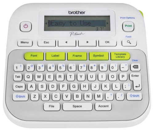 Brother - Label Maker - White/Gray