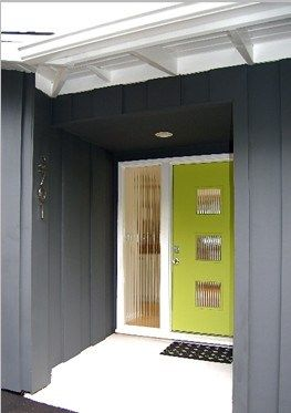 mid-century modern entry door
