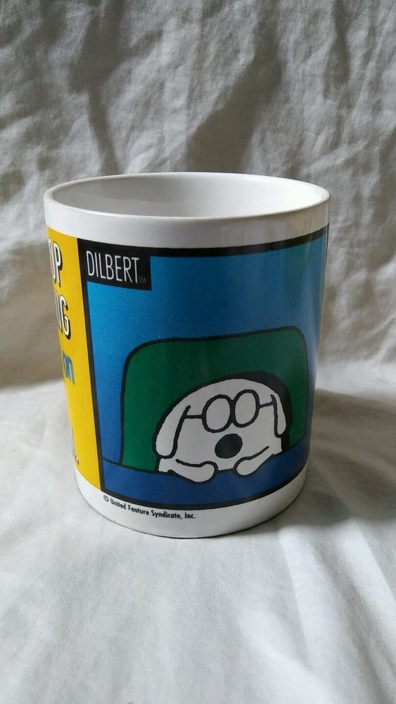Dilbert Dogbert Let Me Drop Everything And Work On Your Problem Coffee Mug Cup  | Collectibles, Decorative Collectibles, Mugs, Cups | eBay!