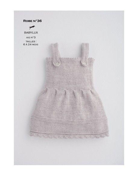 Modèle robe CB16-37- Patron tricot gratuit