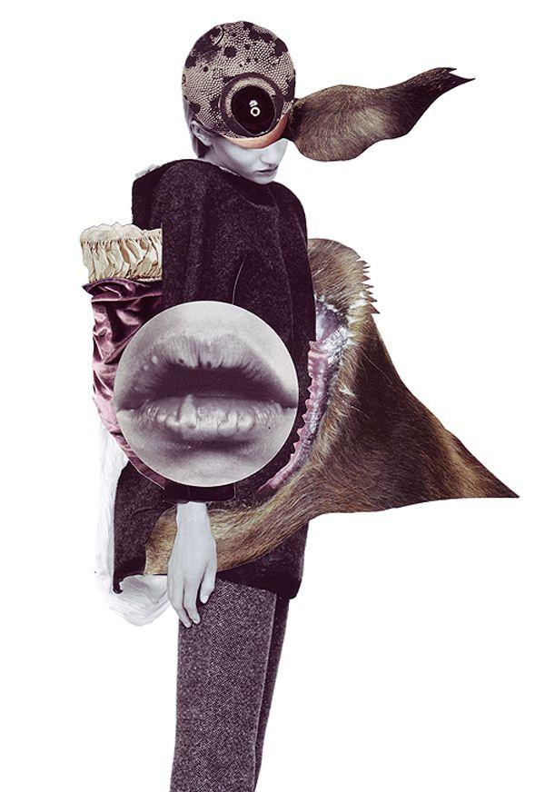 Ashkan Honarvar fashion collages