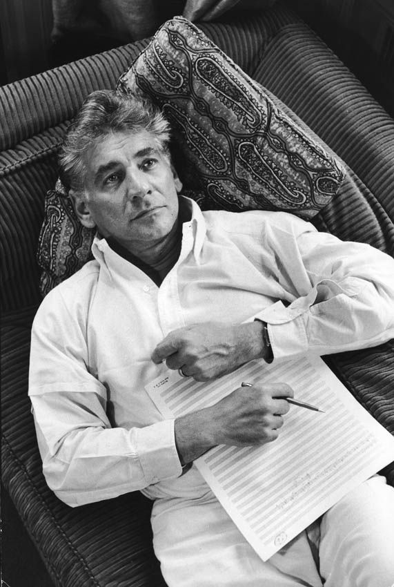 Leonard Bernstein (1918-1990), conductor, composer and pianist, he was one of the greatest musicians of the 20th century.