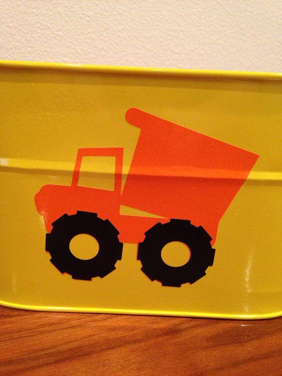 Yellow metal bucket dump truck construction by pinktreepapers