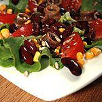 Sałatka z anchois i słonecznikiem