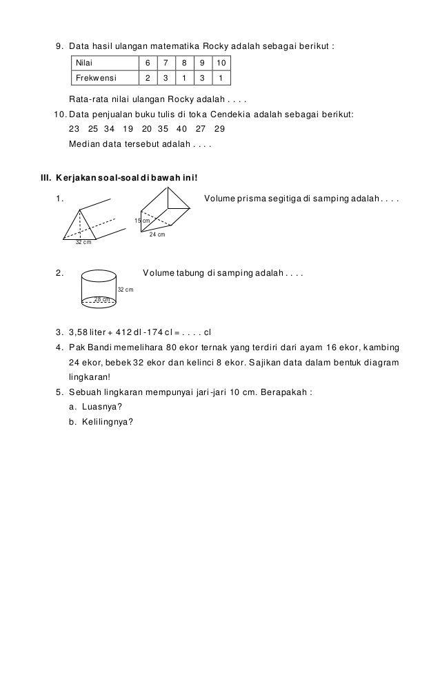 Soal Latihan Matematika Kelas 6 : latihan, matematika, kelas, Number, Sense