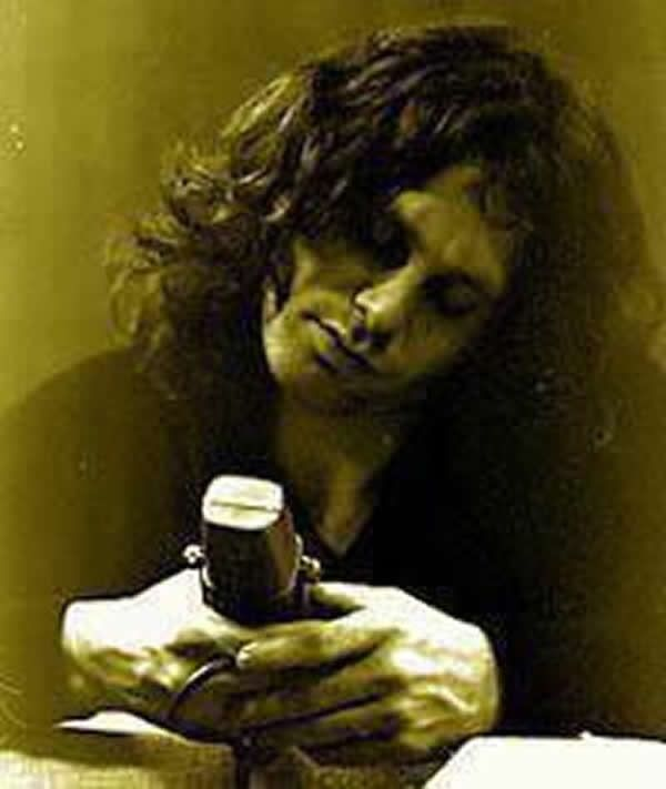 Jim Morrison. The famous head tilt.