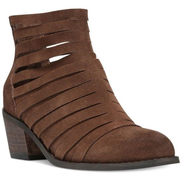 Carlos by Carlos Santana Vanna Block-Heel Booties (2,070 MXN) ❤ liked on Polyvore featuring shoes, boots, ankle booties, mustang, carlos by carlos santana boots, carlos by carlos santana, block heel booties and block heel boots