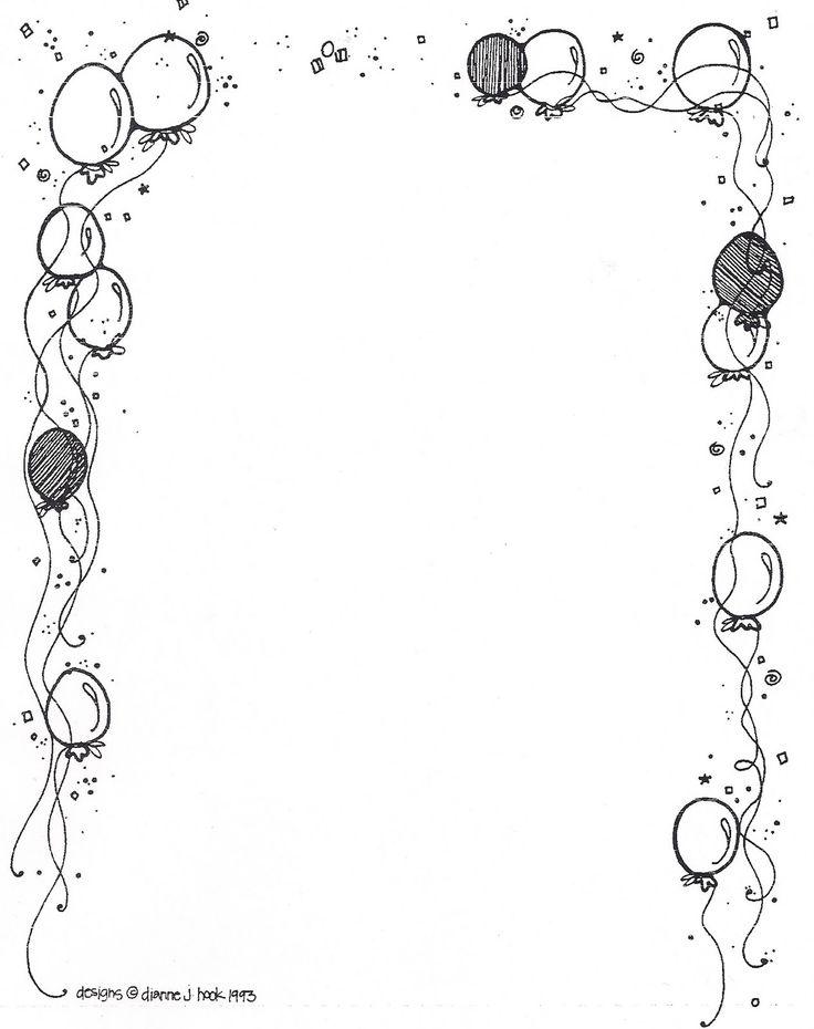 Рамки черно-белые на открытки с днем рождения
