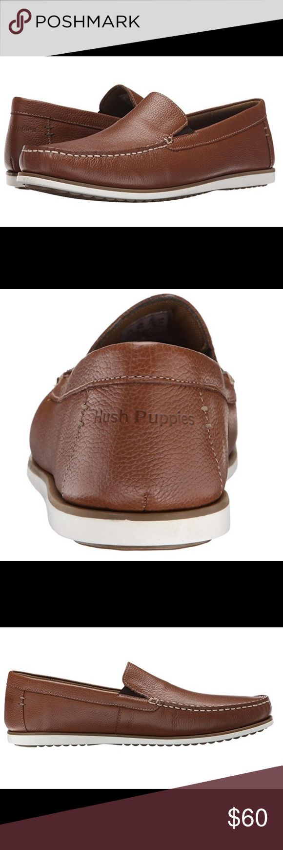 Hush Puppies Men's Bob Portland Slip-on Loafer Suede/Leather Imported Rubber sole Detailed with a soft waxy pebbled full grain upper leather brushed to a fine luster finish Leather lining (suede upper) or mesh lining (leather upper) for soft comfort against the foot Leather covered Ethylene vinyl acetate cushioned sock Hush Puppies Shoes Loafers & Slip-Ons