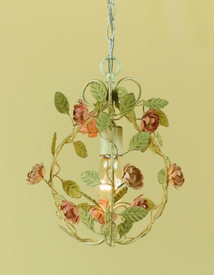 7 best flower chandeliers images on pinterest chandelier lighting af lighting ramblin rose antique cream with pink one light mini chandelier mozeypictures Images