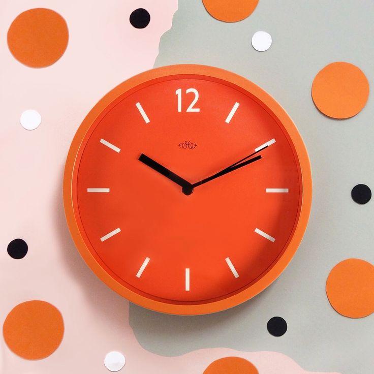 Wall Clock   Goldfish Orange