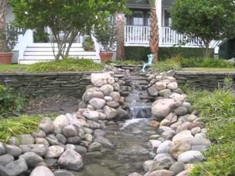17 best images about dry river bed water on pinterest for Koi pool water gardens thornton