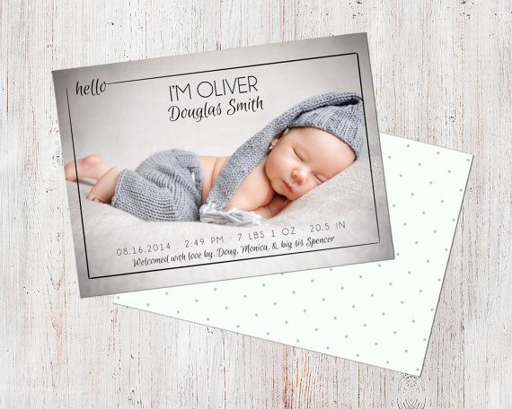 Birth Announcement Template Birth Announcement Boy by deanworks