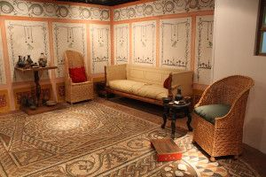 Reconstruction of Roman living area (also known as exedra) from Museum of London